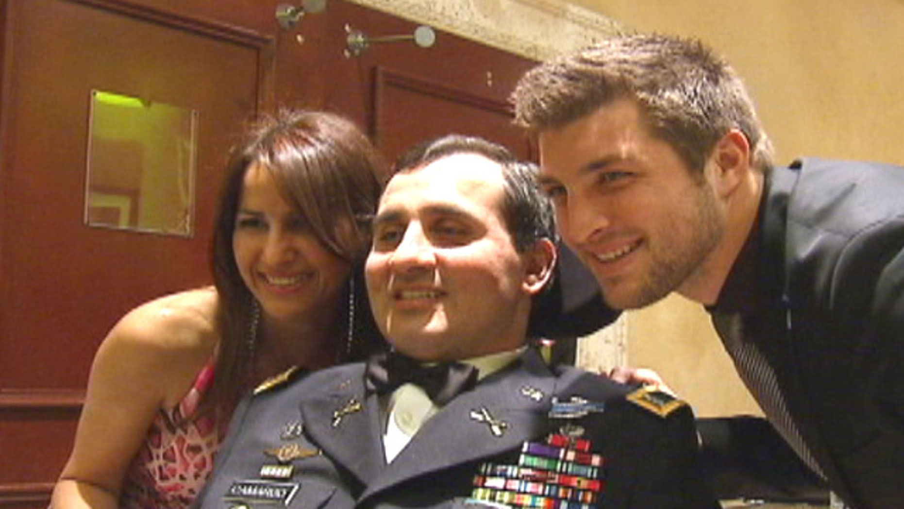 Mar. 9, 2012: U.S. Army Ranger Romy Camargo got a surprise visit from Tim Tebow in Florida.
