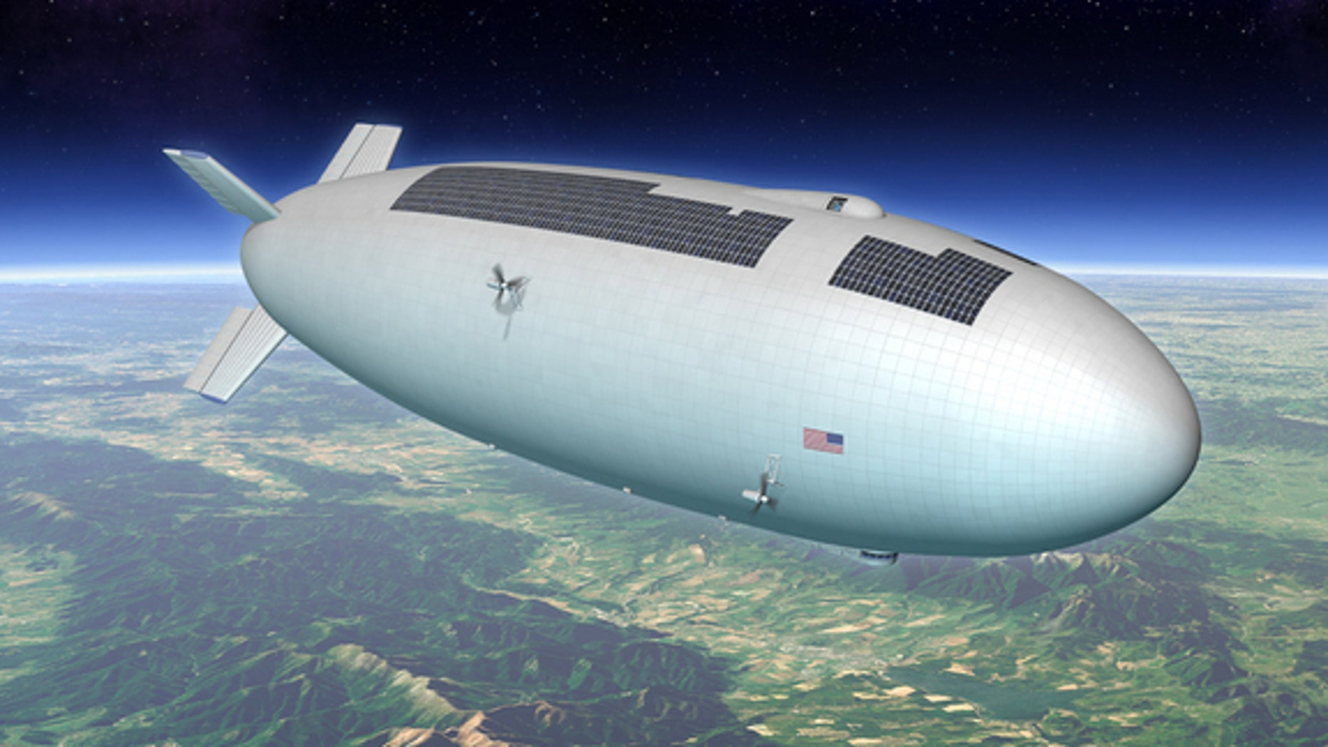 This artist's conception of a high-altitude airship is one of many possible models that could come from an airship design challenge.