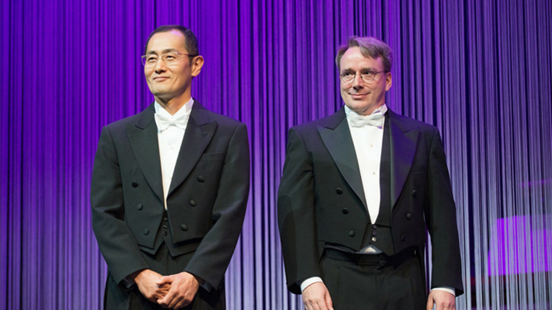 Shinya Yamanaka (left) and Linus Torvalds (right) shared this year's Millennium Technology Prize.