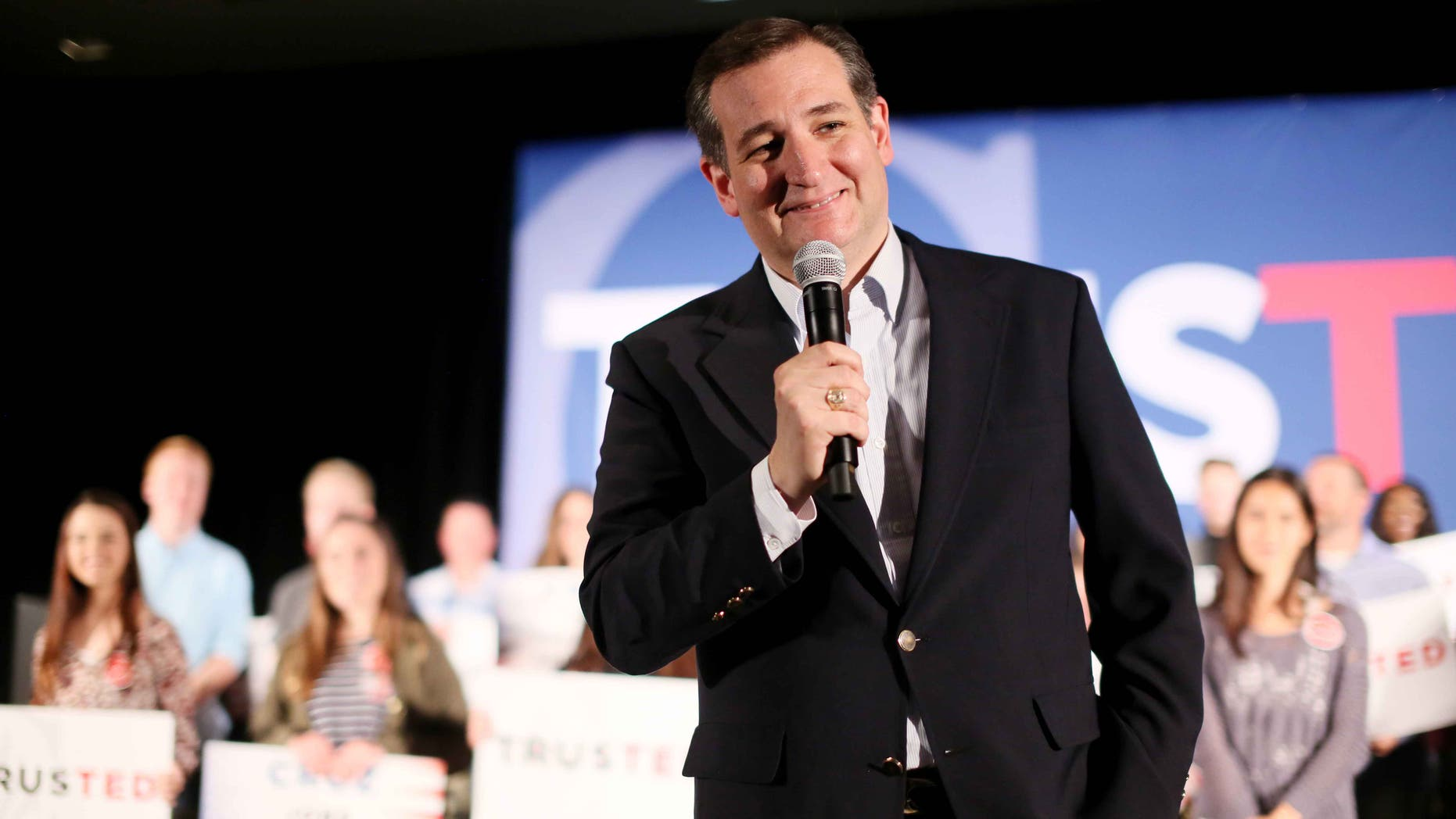 Republican candidate Ted Cruz on Monday, April 11, 2016, in San Diego.