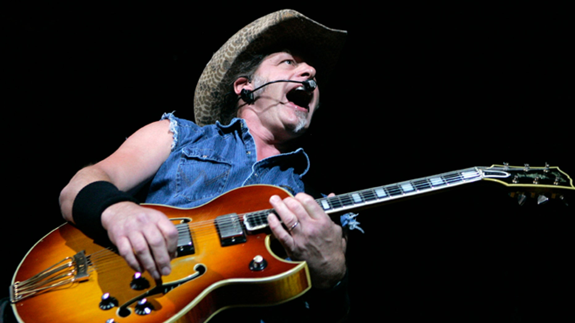 Aug. 11, 2007: Ted Nugent performs at a concert at the House of Blues at the Mandalay Bay Resort in Las Vegas, Nev.