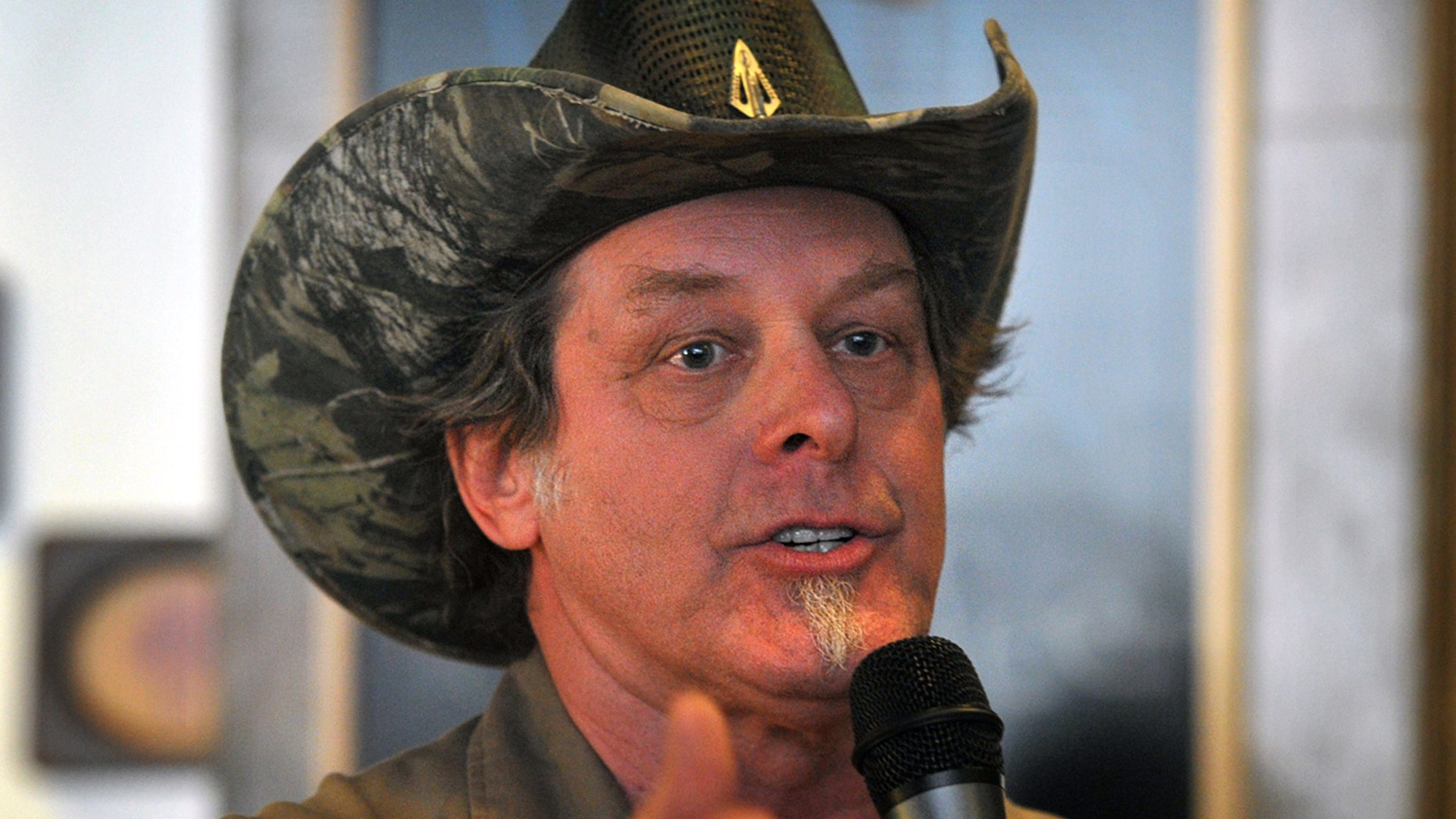 Feb 18, 2014. Ted Nugent speaks to a crowd of Greg Abbott supporters during a campaign stop in Wichita Falls, Texas.