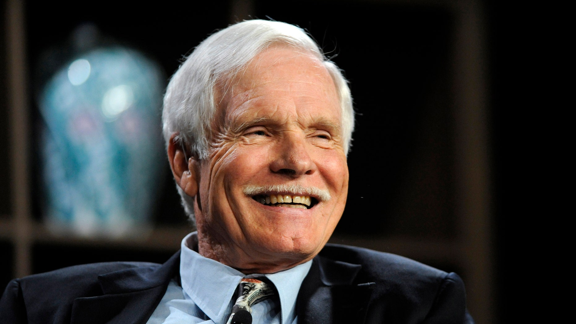 """Turner Enterprises Inc. Chairman Ted Turner participates in the """"Ted Turner and T. Boone Pickens on America's Energy Future"""" panel at the 2010 Milken Institute Global Conference in Beverly Hills, California April 26, 2010. REUTERS/Phil McCarten (UNITED STATES - Tags: BUSINESS MEDIA ENERGY) - RTXS6RO"""