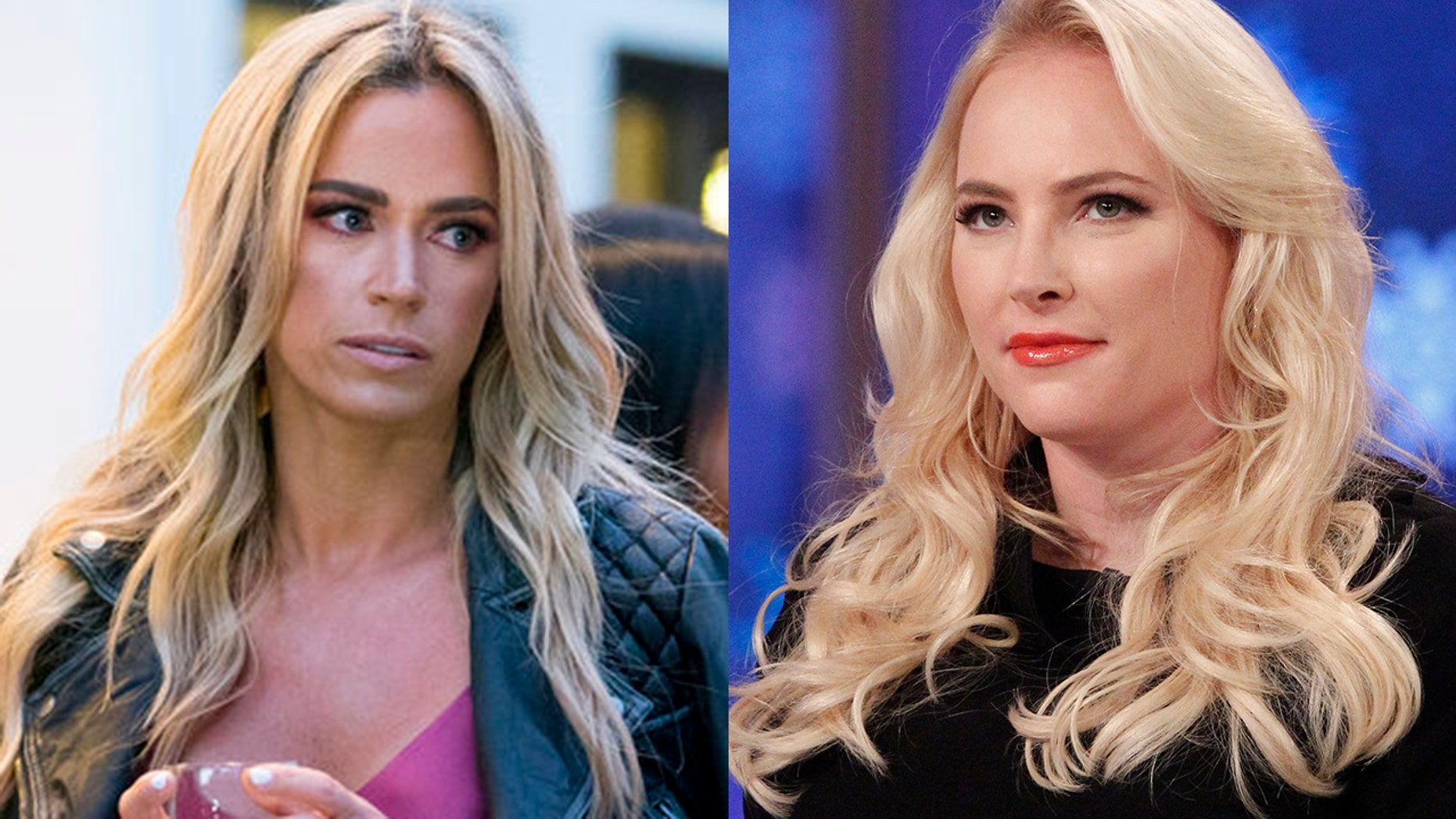 "Teddi Mellencamp (left) and Meghan McCain (right) have been feuding since McCain called the ""Real Housewife"" star ""boring"" in a February interview"