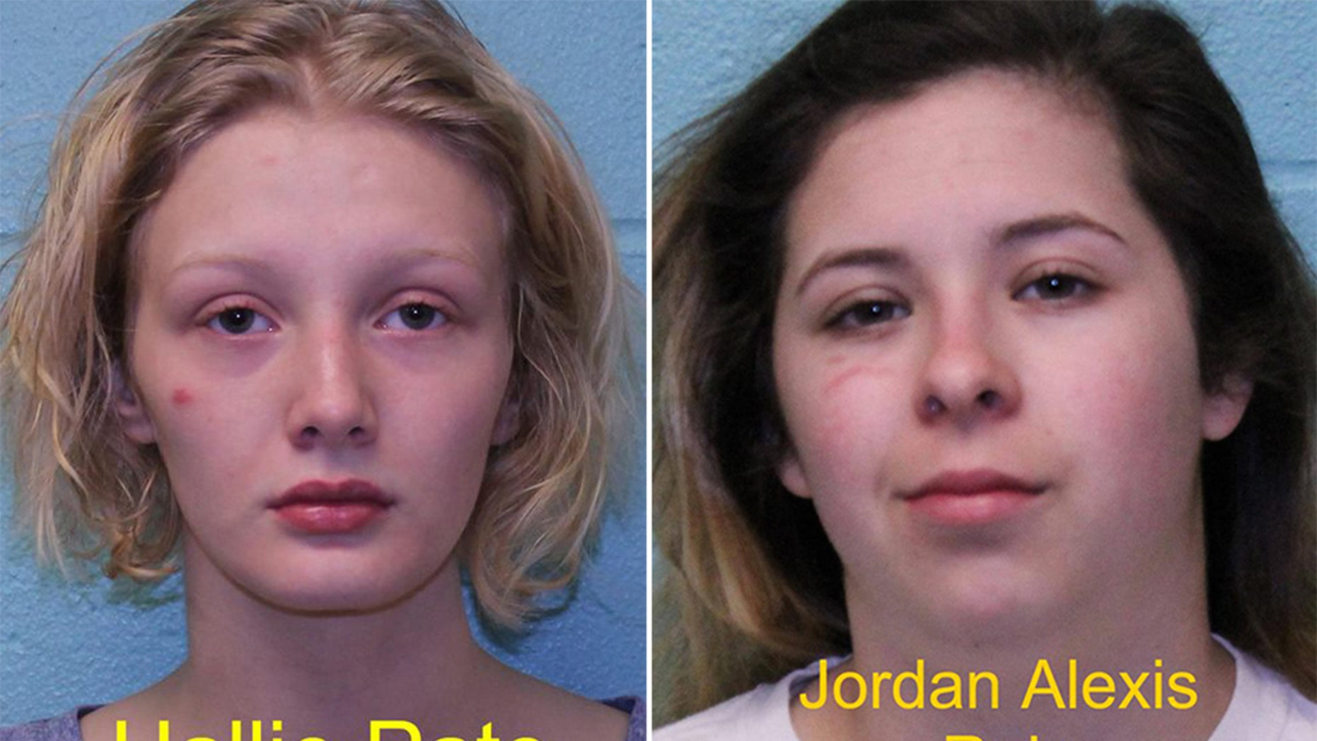 Hallie Pate, left, and Jordan Alexis Ruiz were arrested for breaking into a home and killing the pets inside, officials said.