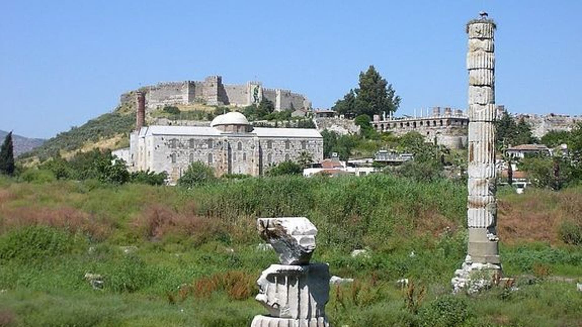 The site of the Temple of Artemis in Ephesus, where Cleopatra had her sister Arsinoe murdered.