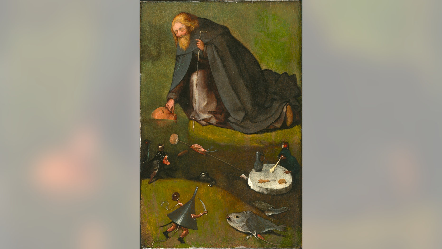 """This undated image provided by the Nelson-Atkins Museum of Art in Kansas City, Missouri, shows """"The Temptation of St. Anthony."""" (Nelson-Atkins Museum of Art via AP)"""
