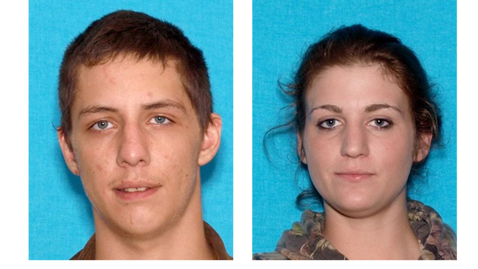 Jarret Cole Heitmann (l) and Makayla Danielle Stilwell are considered armed and dangerous.