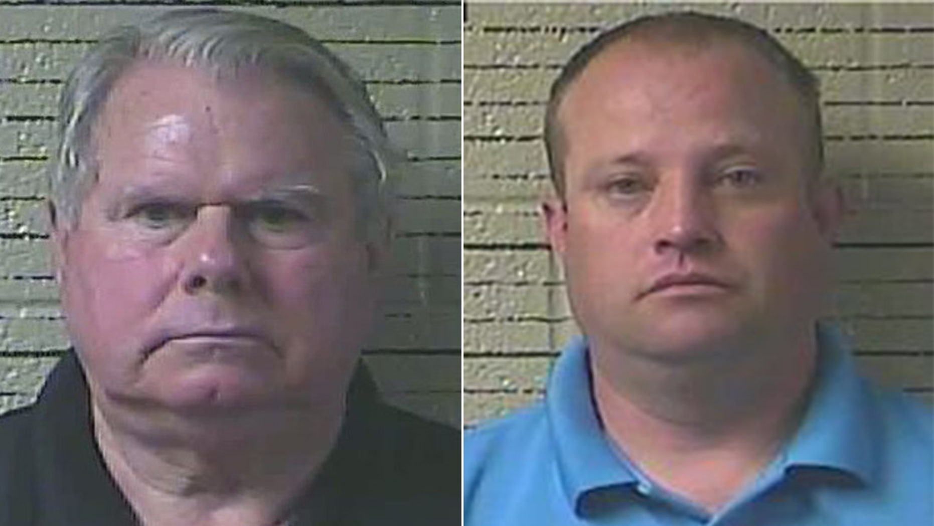 Lawrence County Sheriff Jimmy Brown, left, and Captain Adam Brewer are facing misconduct charges.