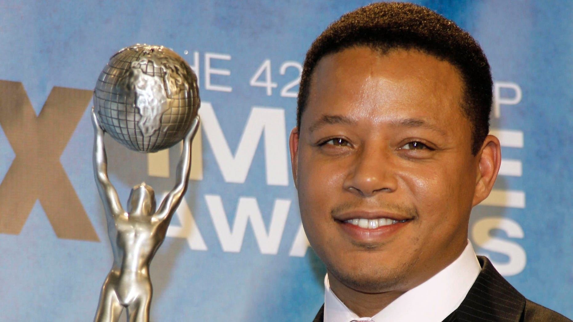 March 4, 2011. Actor Terence Howard poses at the NAACP Awards in Los Angeles, California.