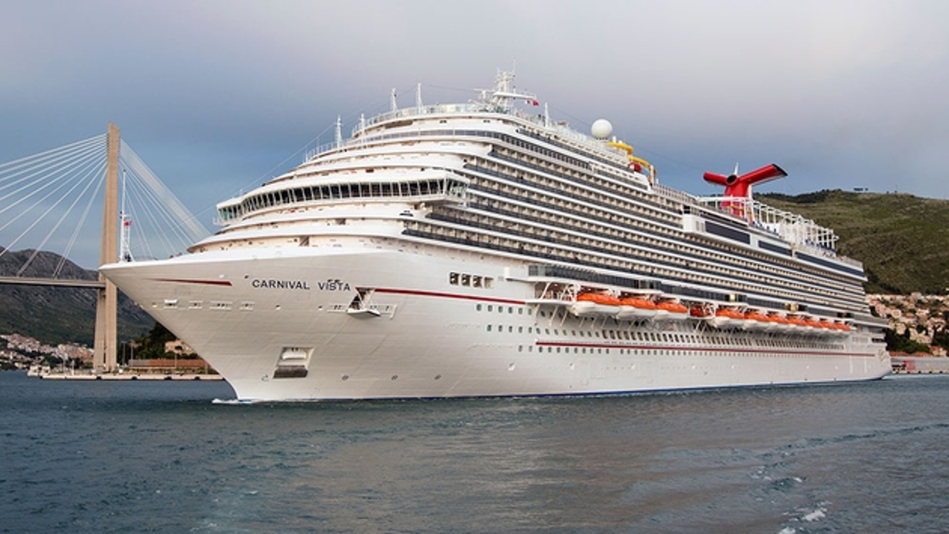 The Carnival Vista is the cruise line's largest ship.