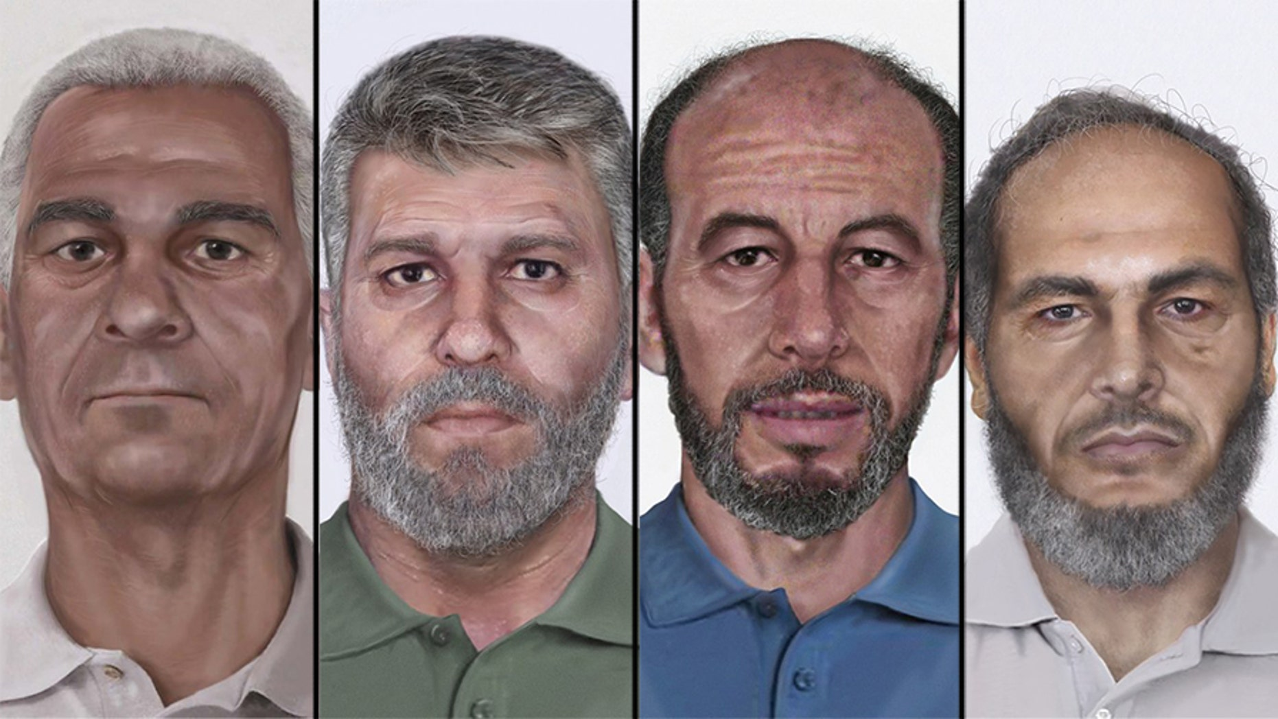 The above photos show the FBI's Pan Am Flight 73 suspects, from left to right, Wadoud Muhammad Hafiz al-Turki, Jamal Saeed Abdul Rahim, Muhammad Ahmed al-Munawar and Muhammad Abdullah Khalil Hussain ar-Rahayyal.