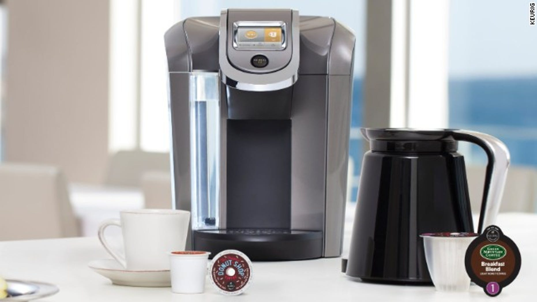 A new 2.0 machine with specially marked K-Cups.