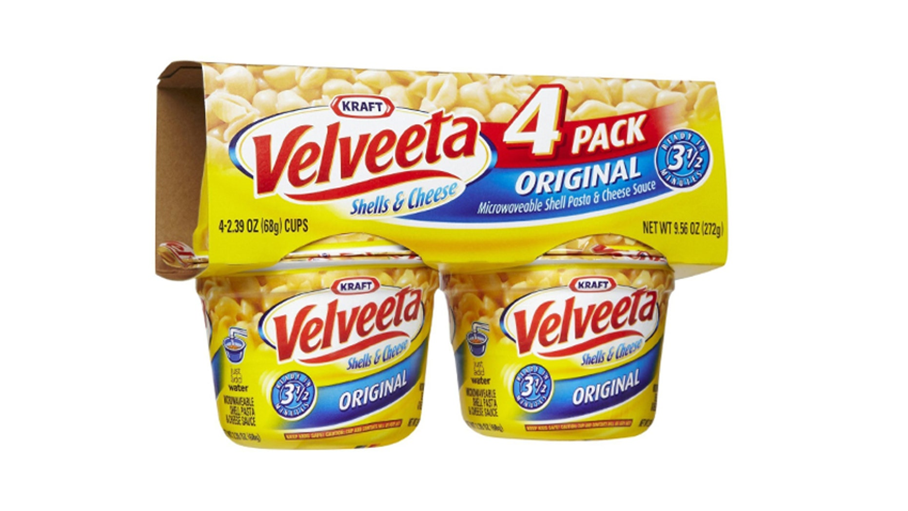 Single servings of Kraft's Velveeta product.