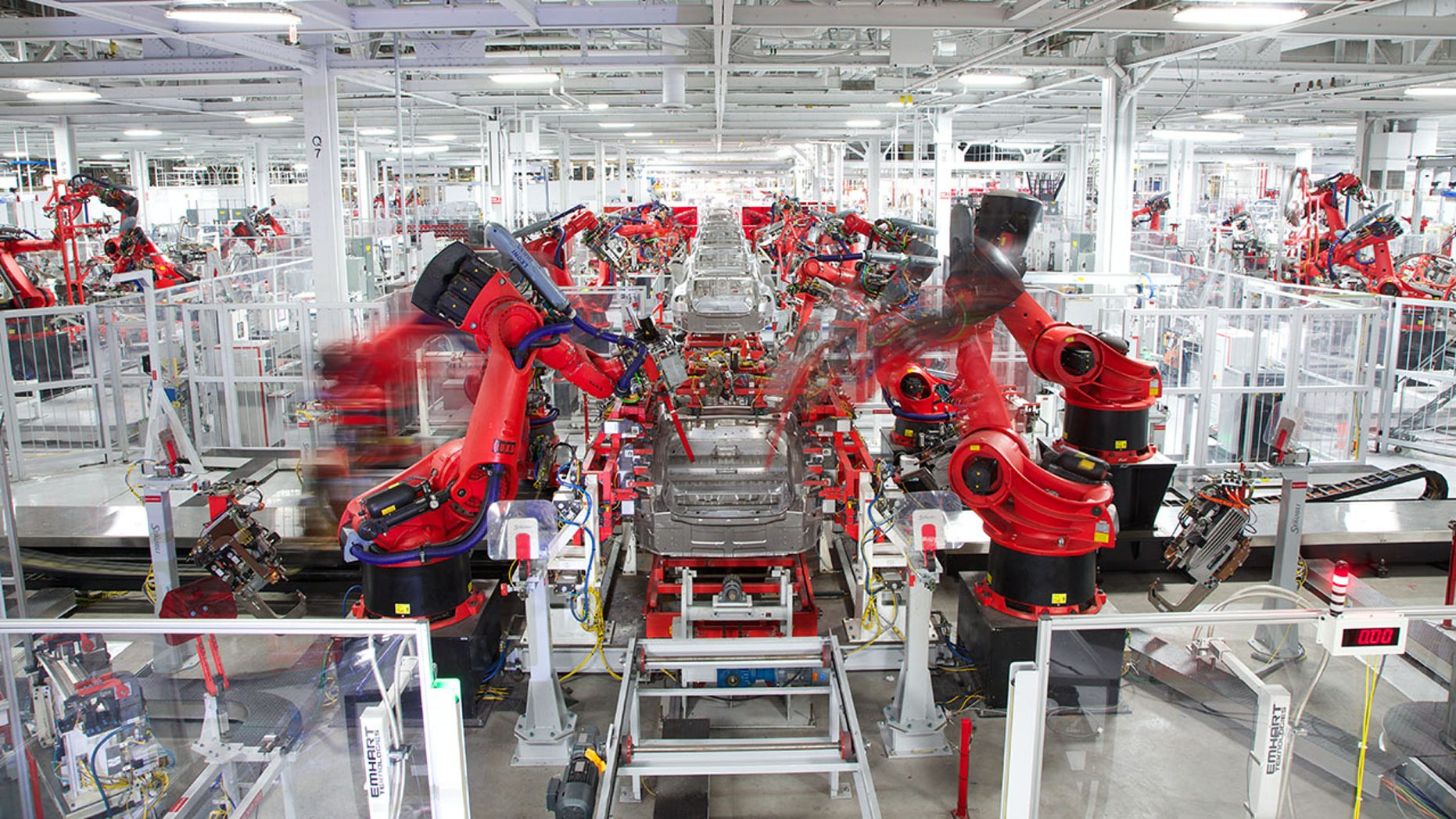 Tesla's highly automated Freemont, Calif., factory.
