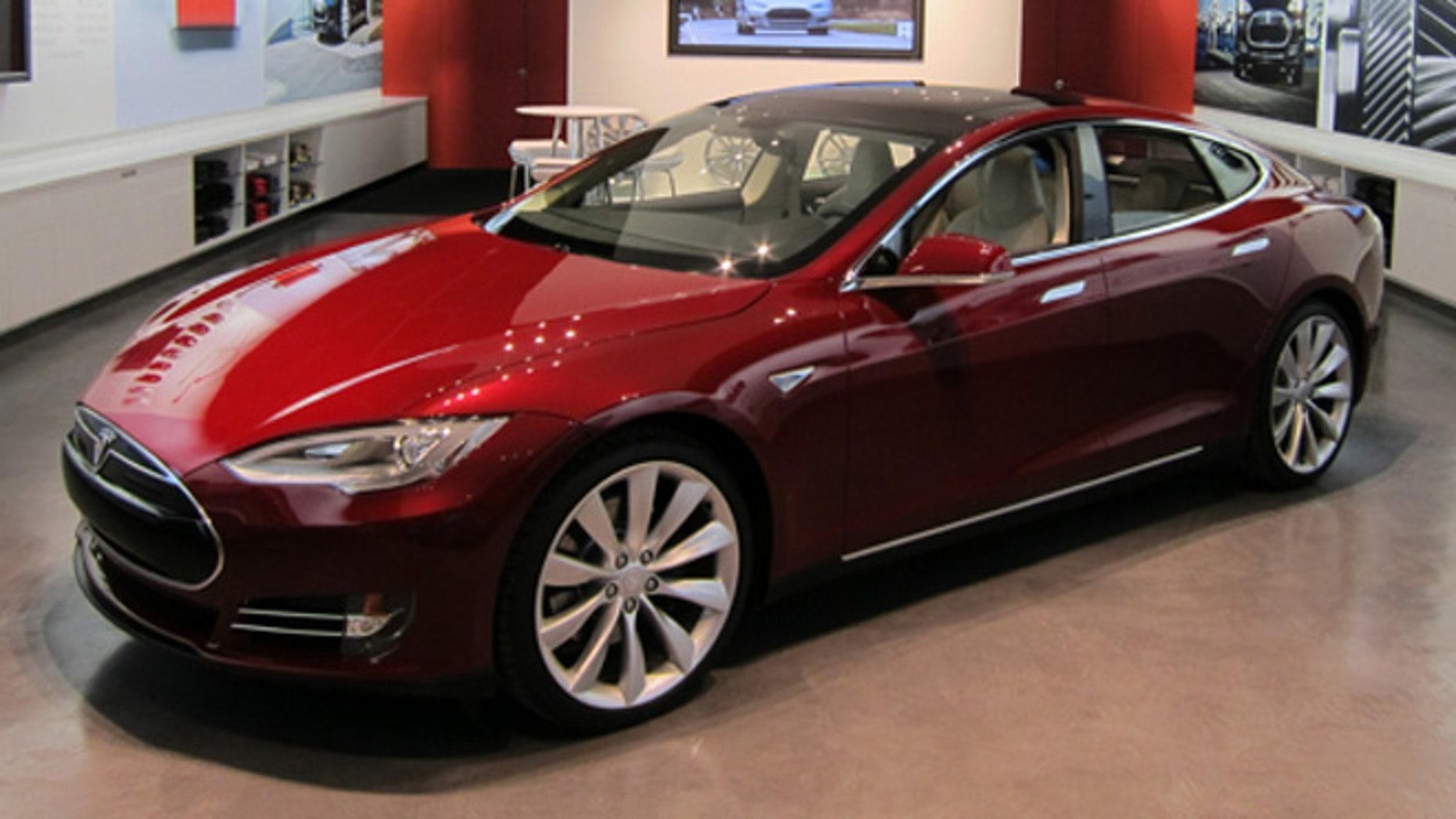 Tesla Motors gallery in Houston Galleria, opened October 2011, with Model S on display