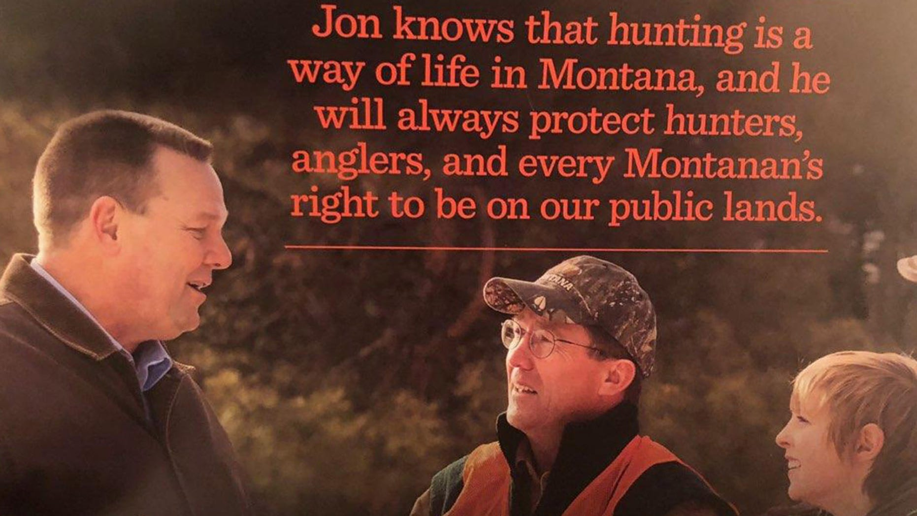 Montana Sen. Jon Tester has campaigned as a hunting proponent, sending out mailers to voters that show him with his gun.