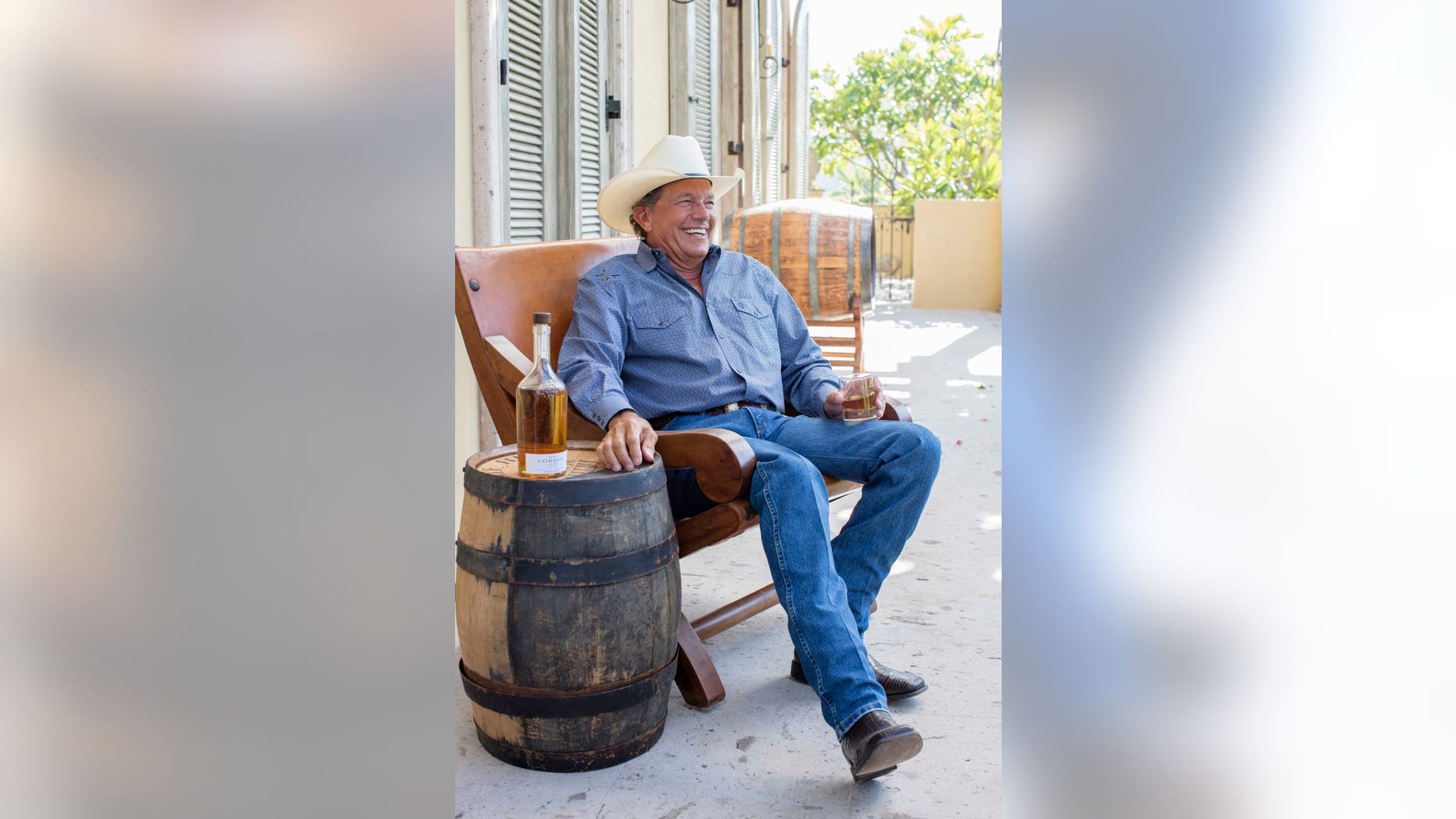 Country superstar George Strait likes to drink his tequila, well, straight.