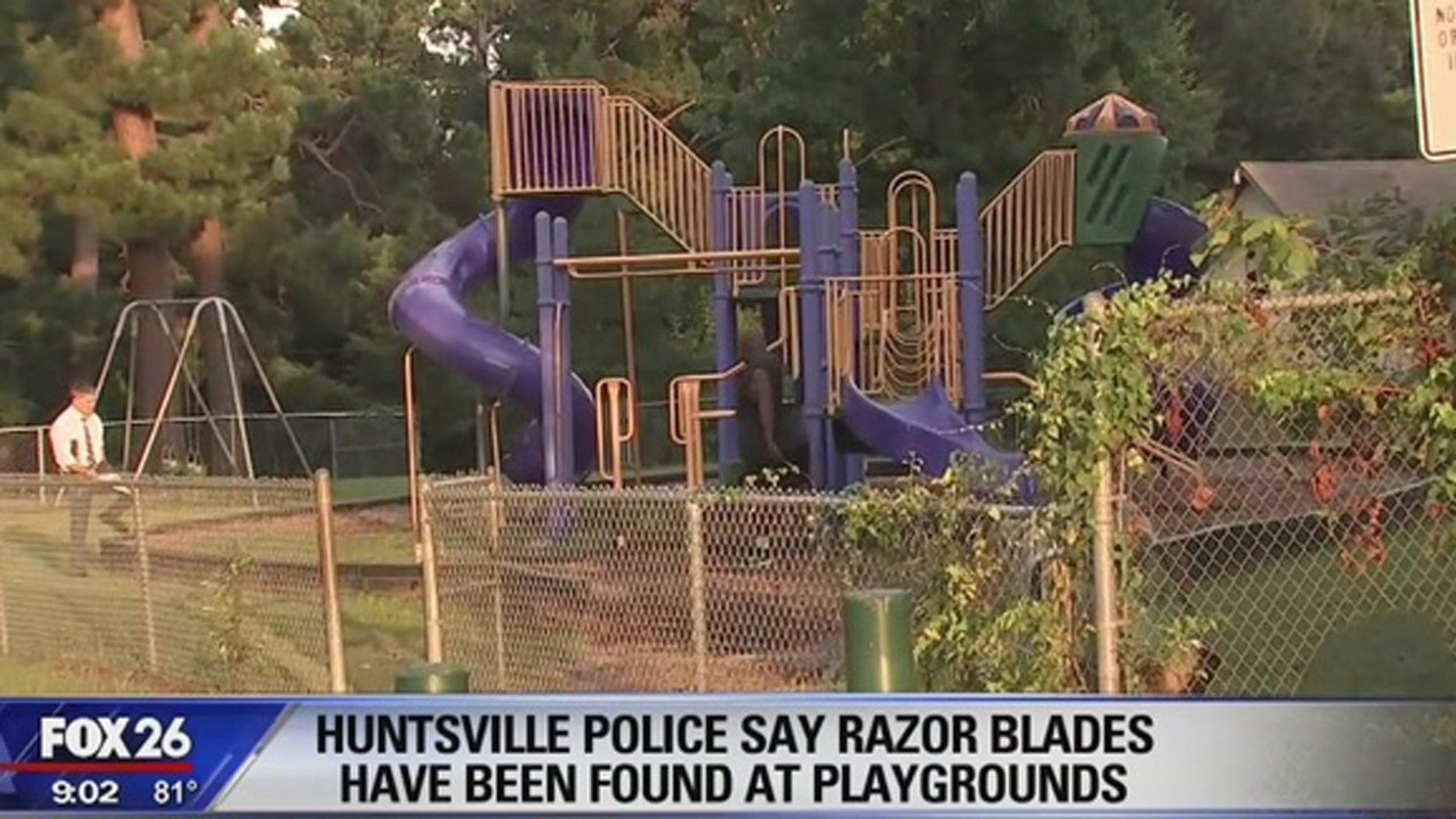 Fabriksnye Fear in Texas town as razor blades are found welded onto slides in EI-56