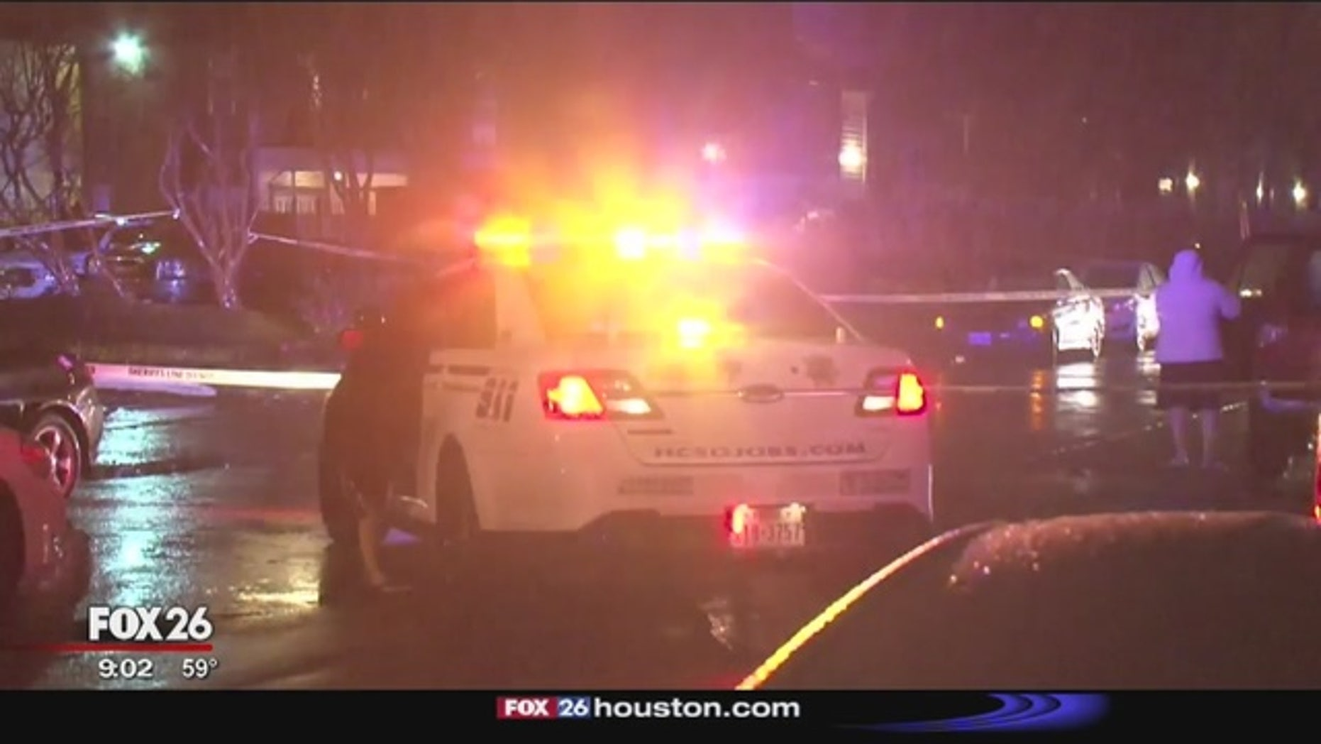 The scene of the shooting in north Harris County.