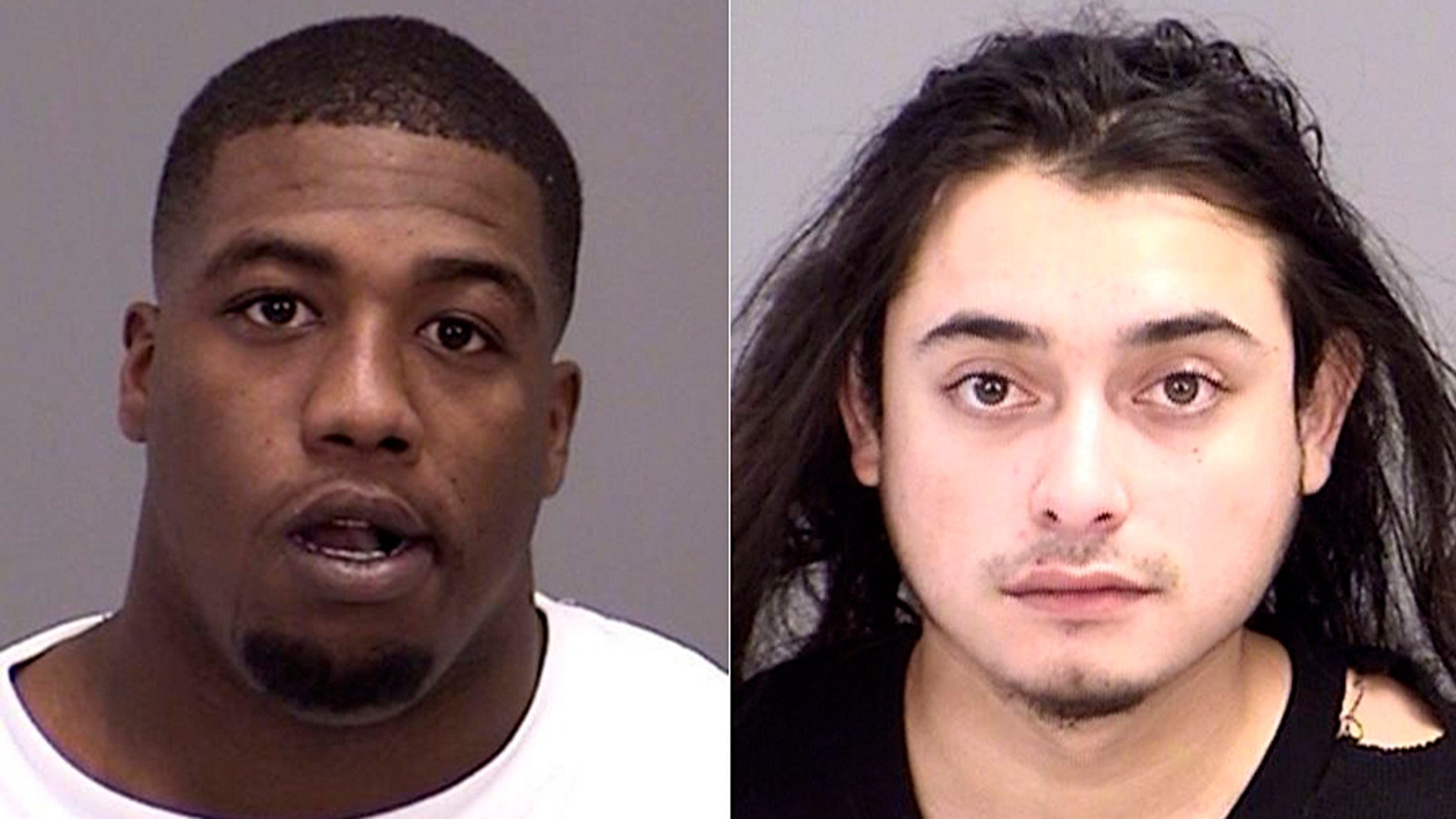Zaycoven Henderson, left, and Terry Florez Jr. were arrested early Sunday.