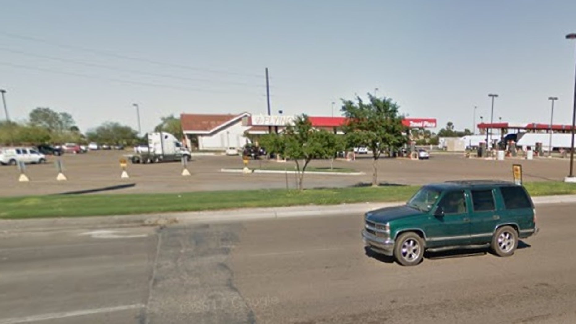 The truck was stopped at a gas station in Edinburg, Texas, not far from the Mexico border.