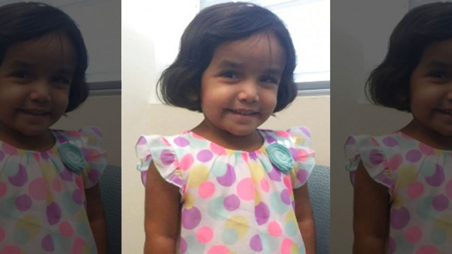 Sherin Mathews, 3, went missing Oct. 14 after her adoptive father allegedly made her stand outside at night — in an alleyway frequented by coyotes.