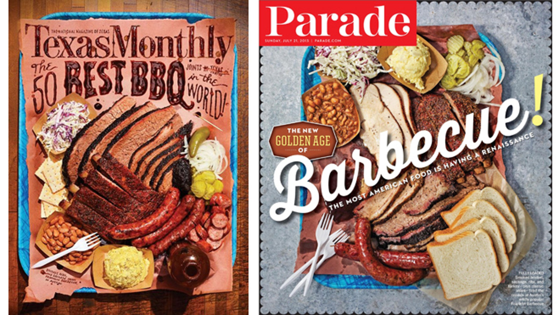Seen side by side, the covers of the May edition of Texas Monthly and the recent issue of Parade have striking similarities.