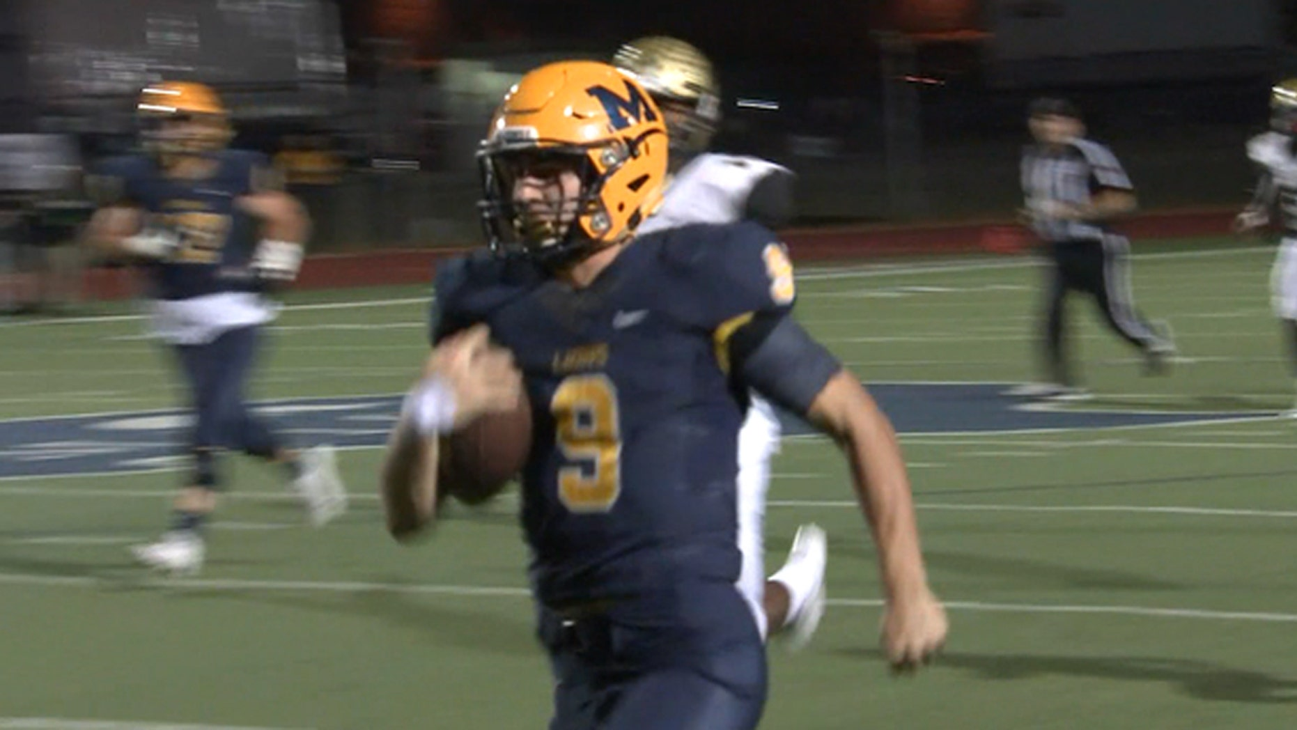 McKinney High School running back Matt Gadek set the Texas single-game rushing record with 599 yards.