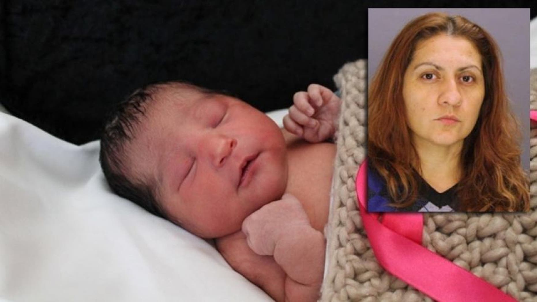 Baby Sophia Victoria Gonzalez Abarca, who went missing after her mother was shot to death, and Yesenia Sesma (inset) who was convicted of killing Sophia's 27-year-old mother, Laura Abarca-Nogueda, and taking the child to Texas.