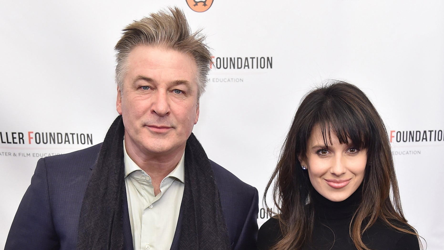 NEW YORK, NY - JANUARY 25:  Alec Baldwin (L) and Hilaria Thomas attend Arthur Miller - One Night 100 Years Benefit at Lyceum Theatre on January 25, 2016 in New York City.  (Photo by Michael Loccisano/Getty Images)