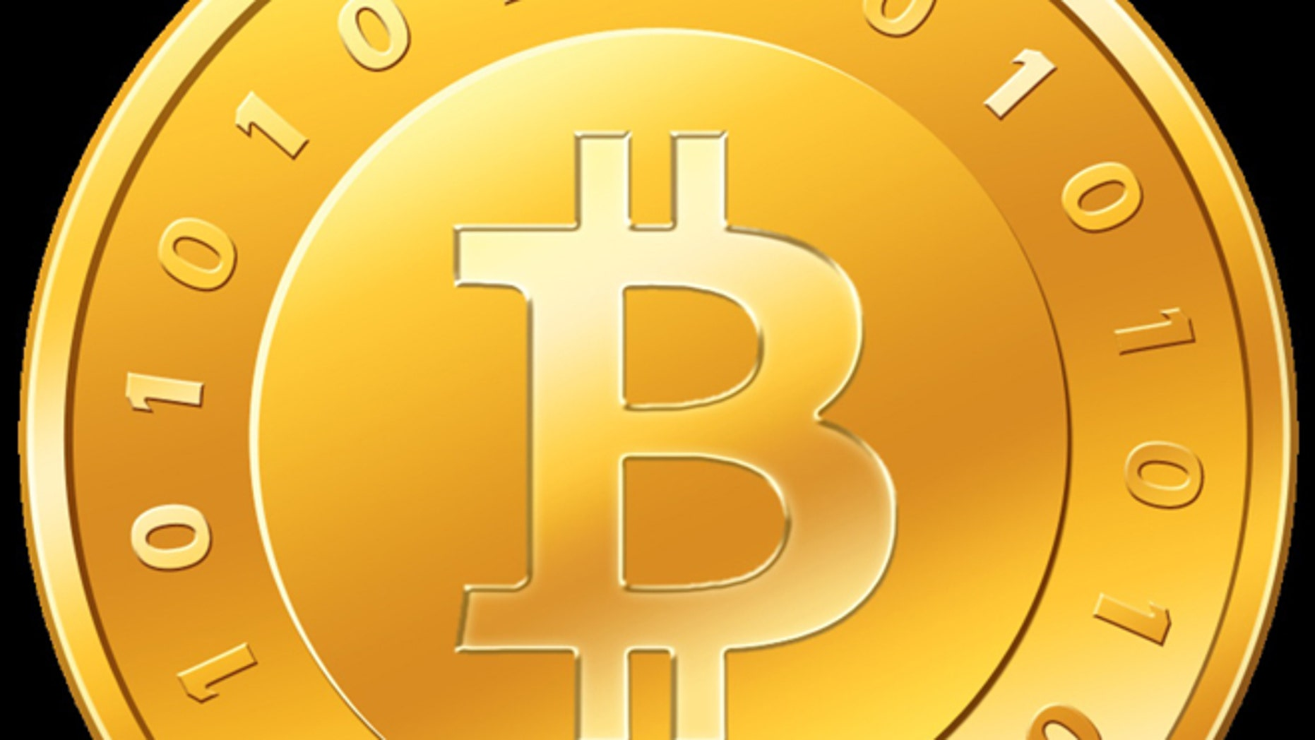 "An illustration of the ""bitcoin,"" a virtual currency currently selling for more than $90 U.S. Dollars."