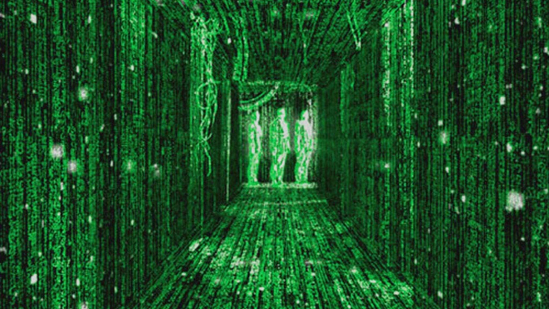 A scene from The Matrix.