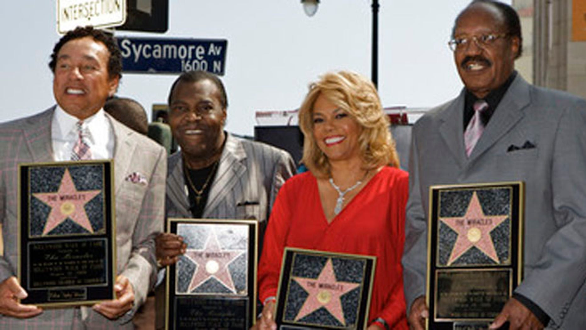 The Miracles, from left: Smokey Robinson, Warren Moore, Claudette Robinson, and Bobby Rogers in 2009.