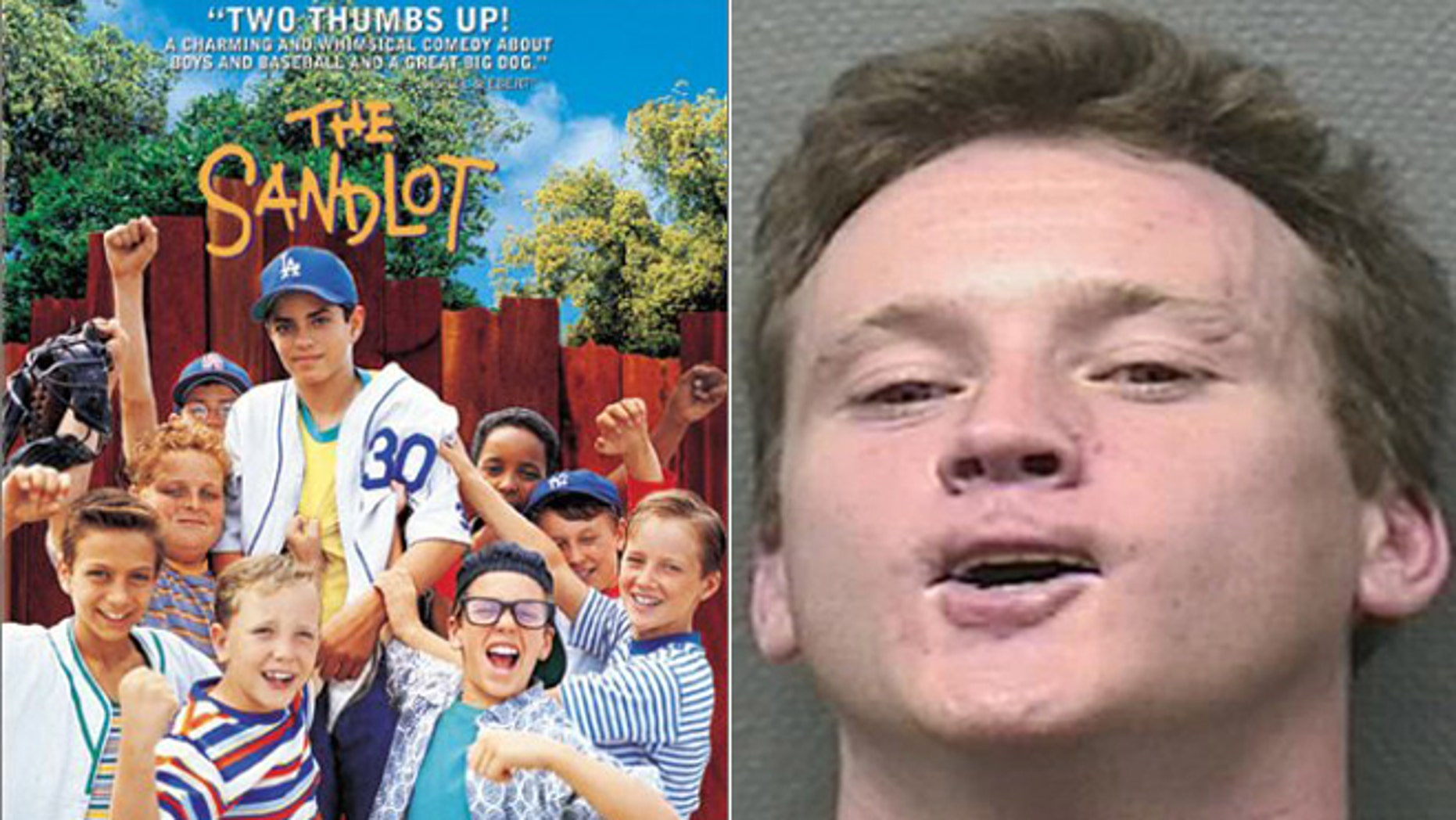 """One of the stars of """"The Sandlot"""" Tom Guiry was arrested for allegedly headbutting a police officer."""