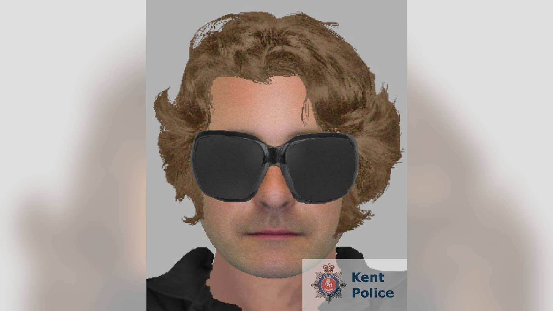 Kent Police released a computer-generated image of a man they're looking for.