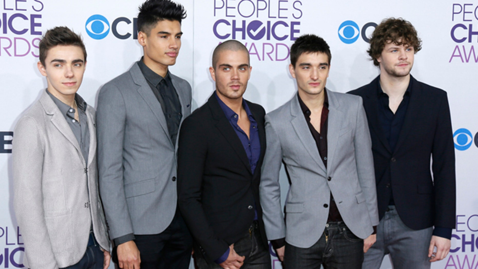 Pop group The Wanted arrive at the 2013 People's Choice Awards in Los Angeles, January 9, 2013.