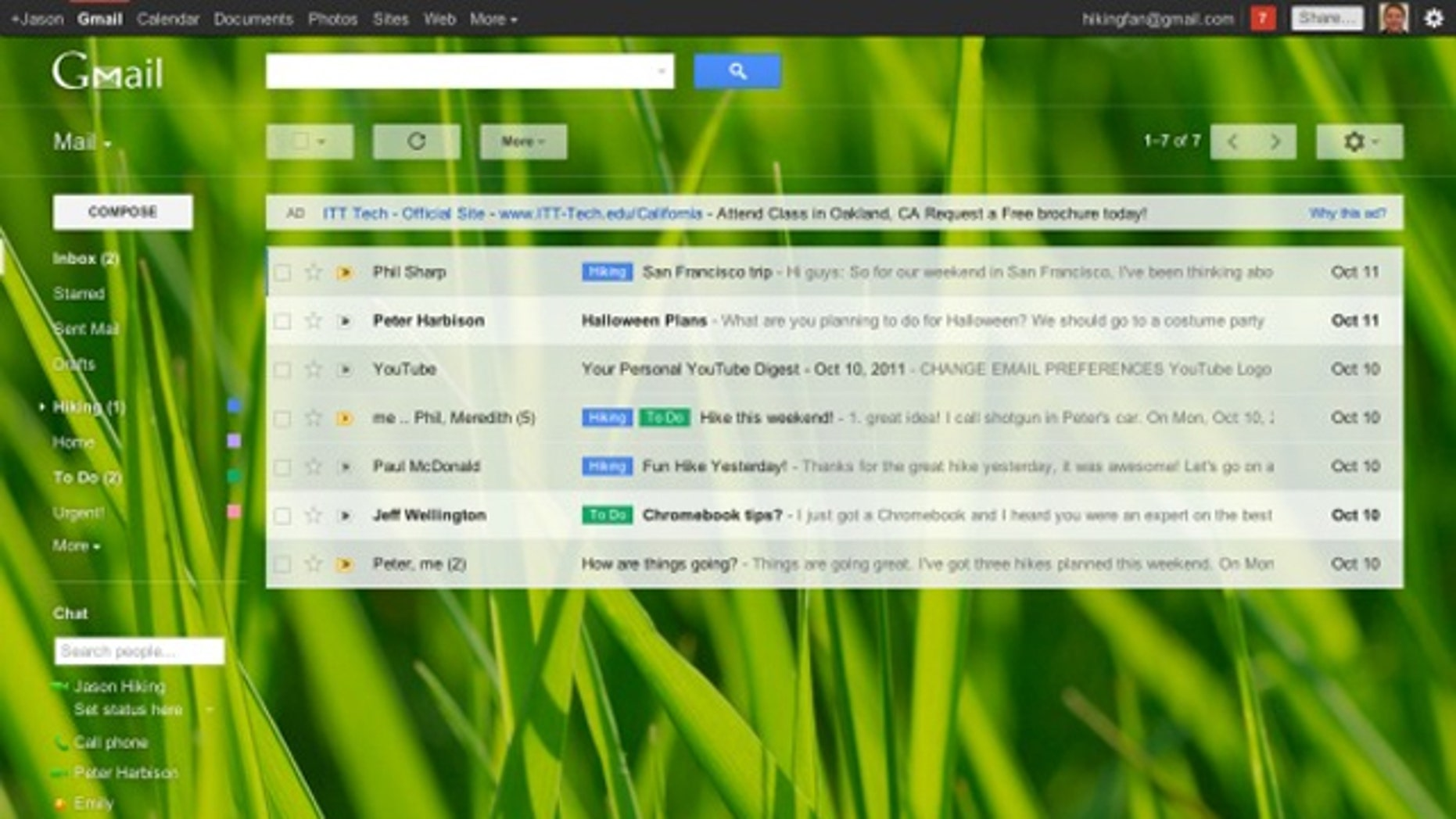 The new Gmail.