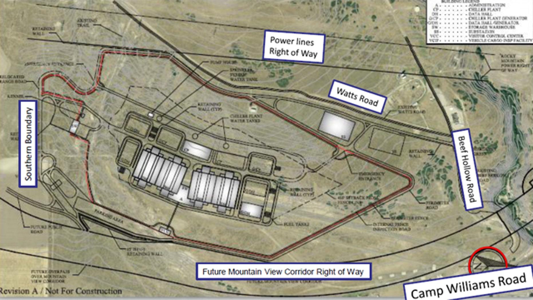 Plans for the new Utah spy center.