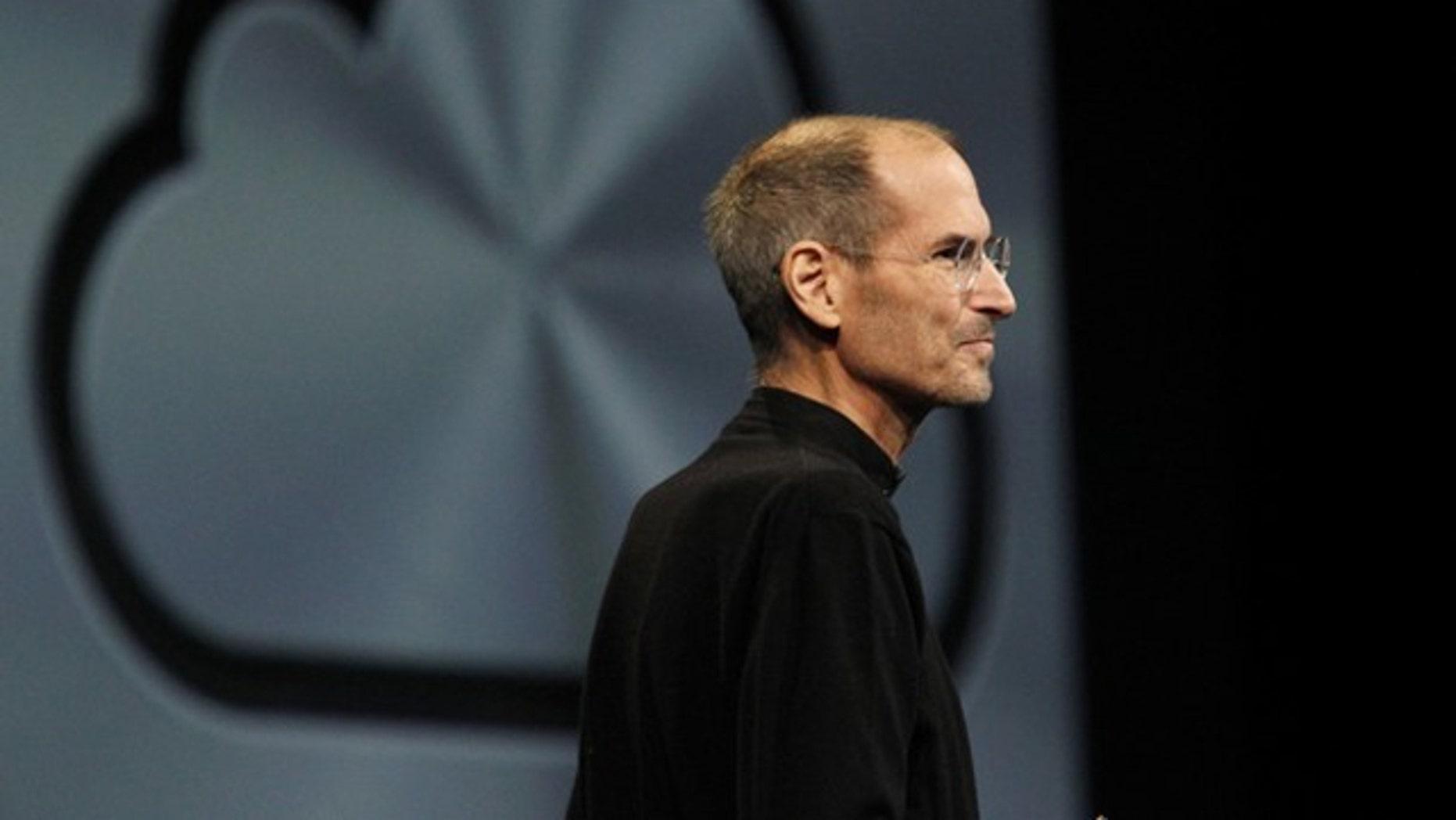 Steve Jobs announces iCloud at the WWDC 2011.
