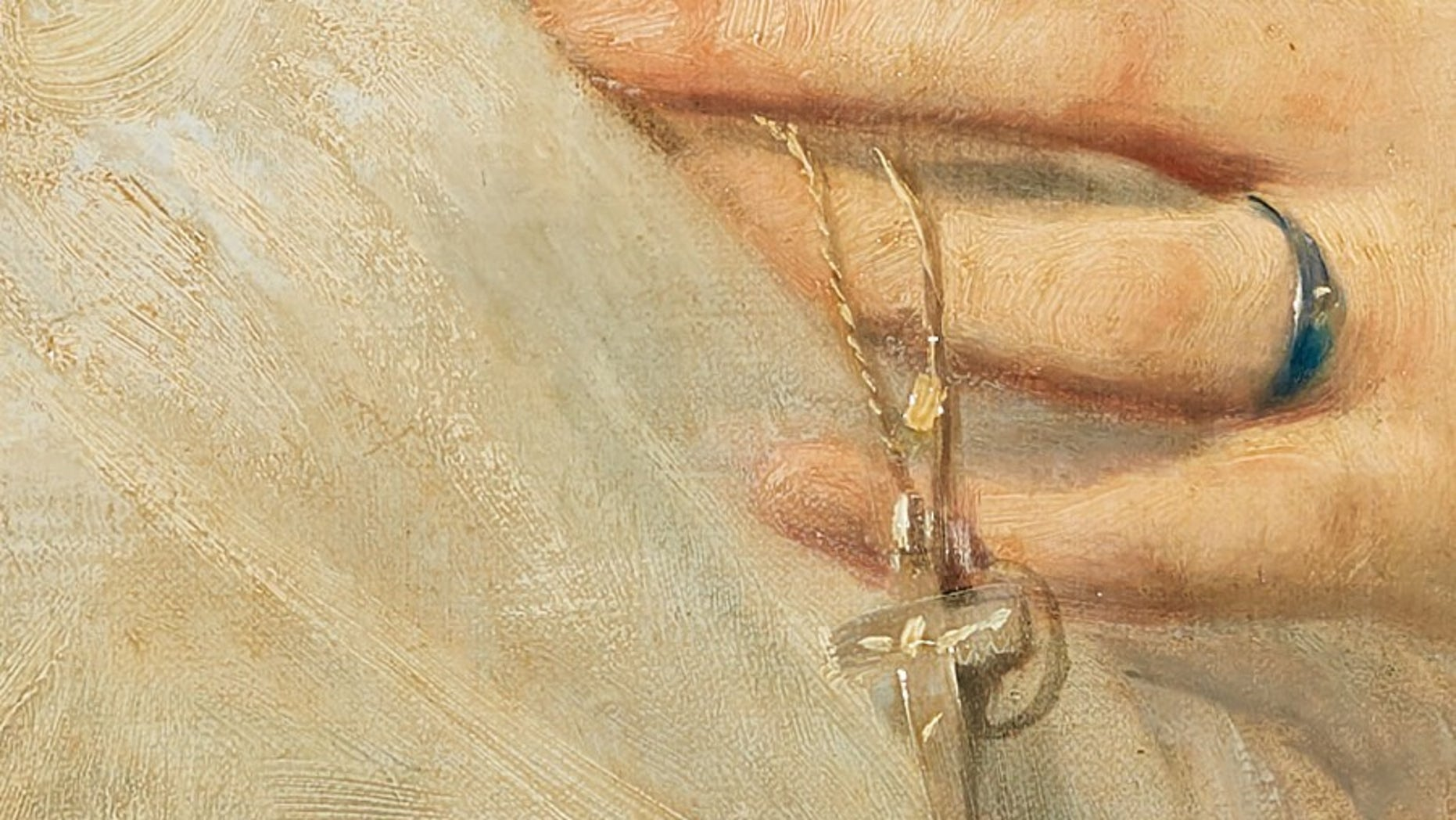 A tiny repaired hole on the painting revealed it to be the lost Thomas Couture artwork. A conservationist of that painting had made a note of the hole.