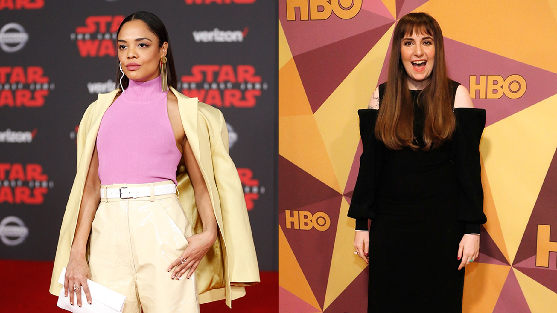 Tessa Thompson and Lena Dunham