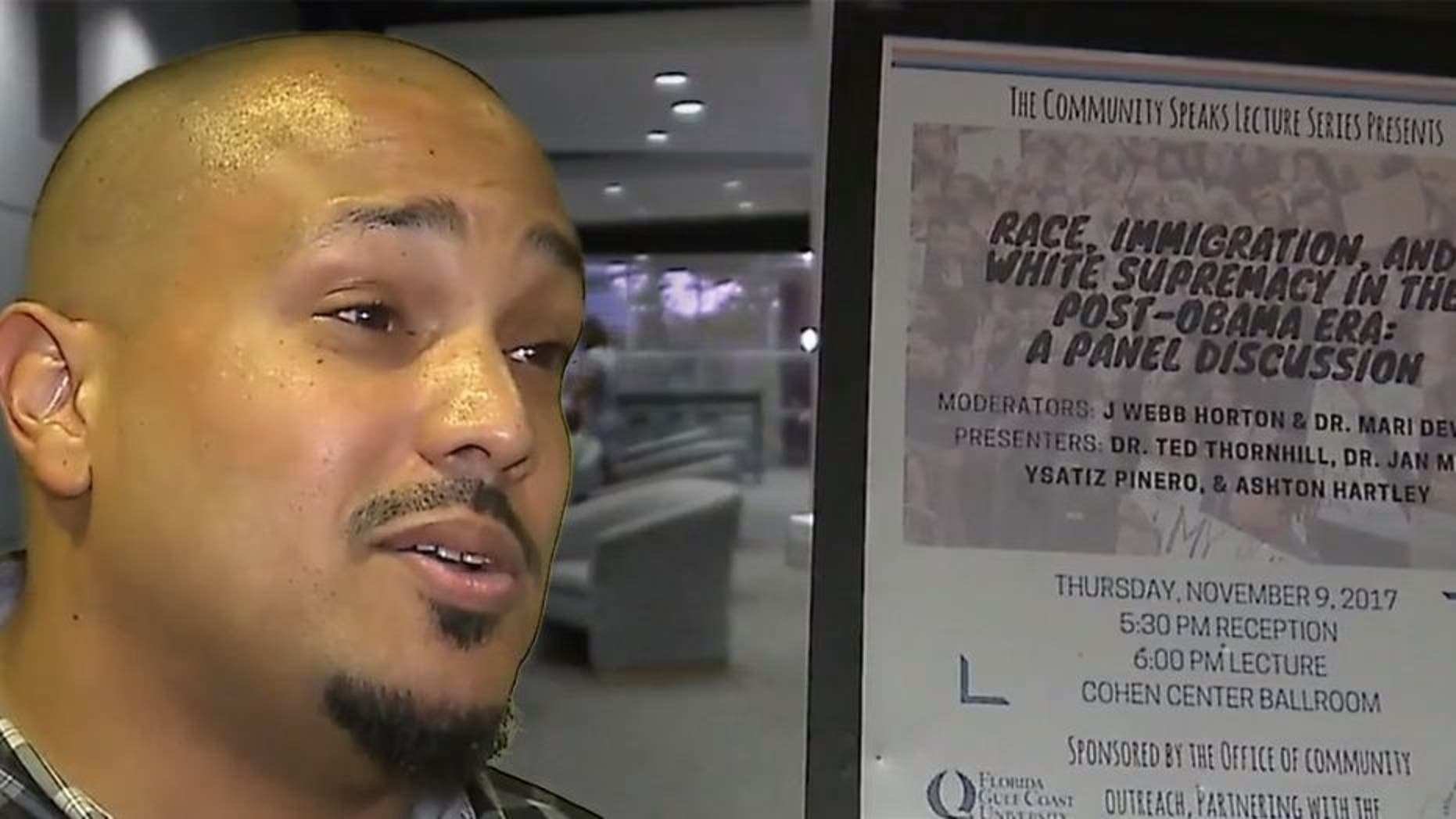 "Sociology professor Dr. Ted Thornhill is teaching a ""White Racism"" class at Florida Gulf Coast University.  (FOX4)"