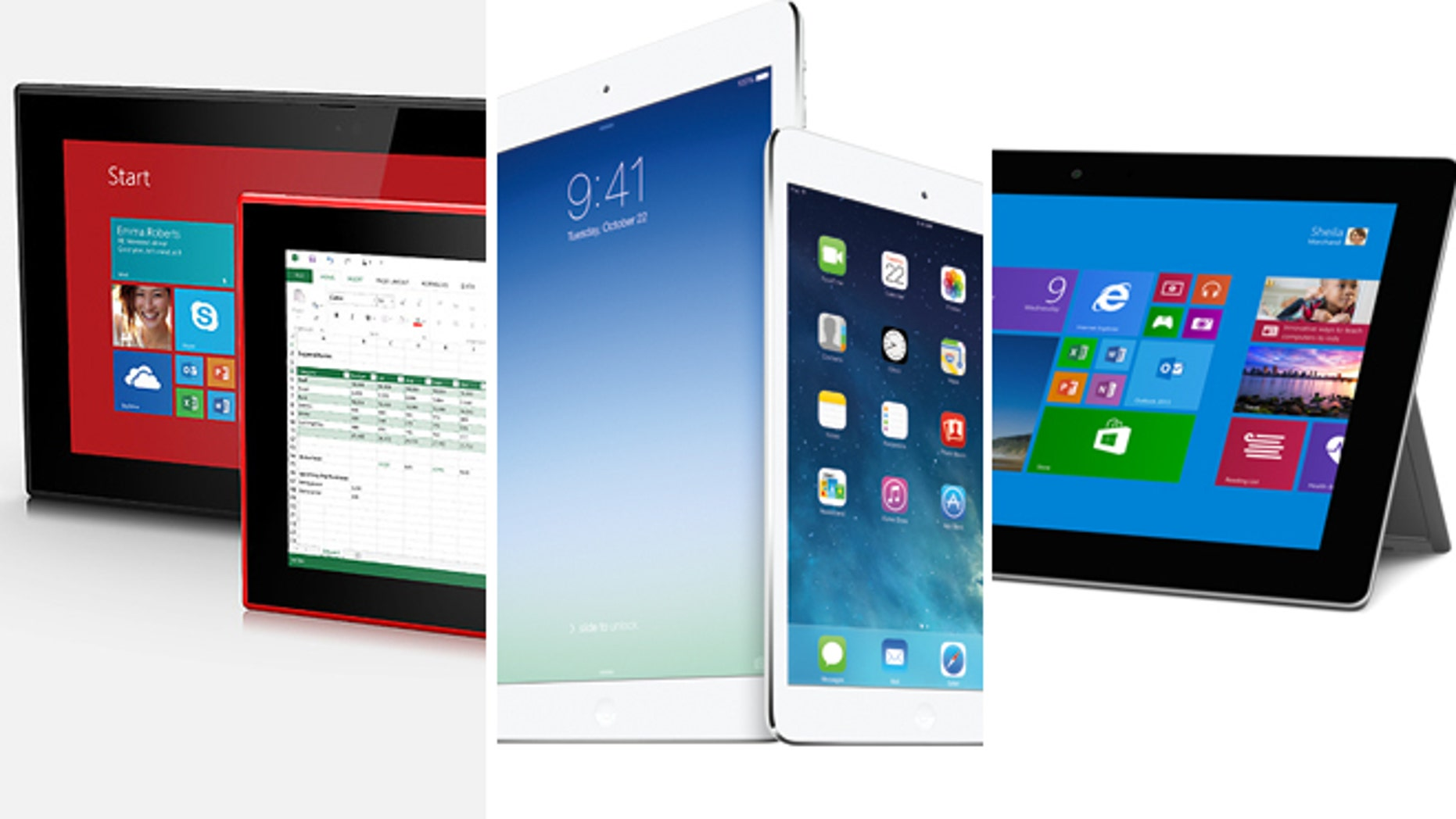This week saw the introduction of new tablets from Nokia (left), Apple (center) and Microsoft (right), implying profound demand for the gizmos. But can we live by tablets only?