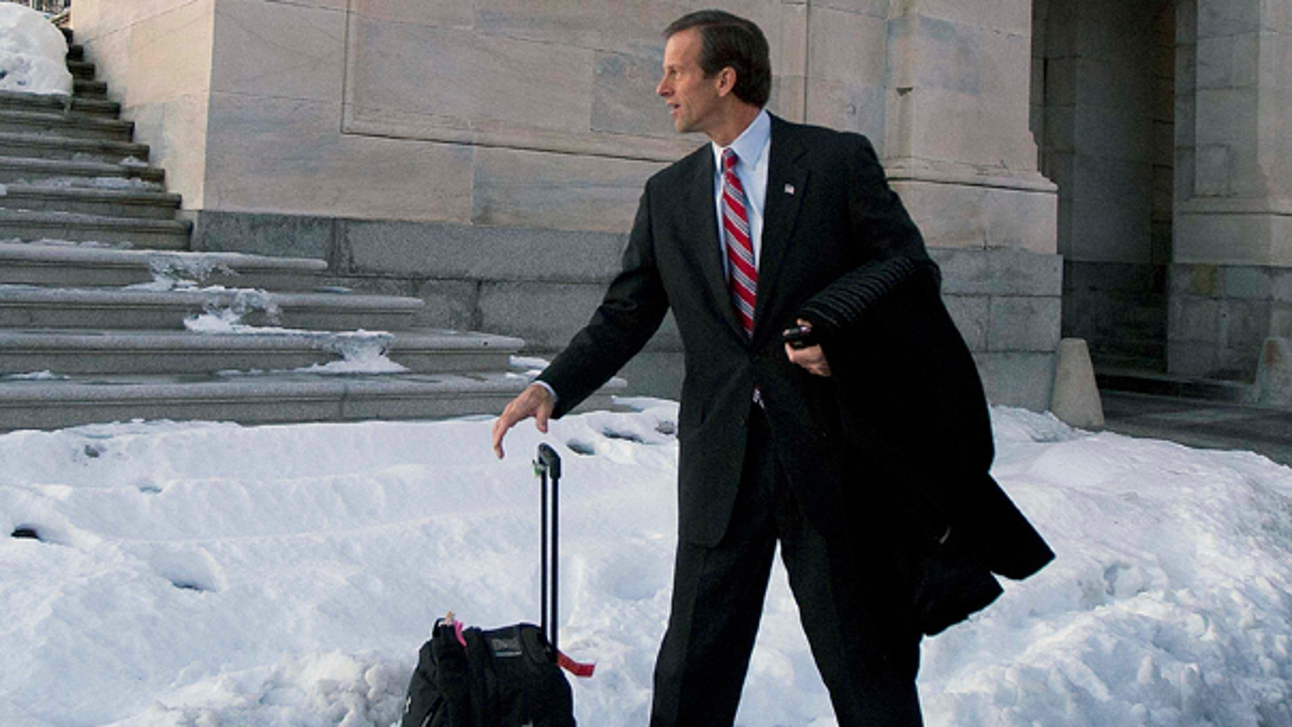Thursday: Sen. John Thune, R-S.D., prepares to depart Washington for a winter recess, but Republicans have vowed to gin up opposition to the Senate health insurance overhaul during Congress' winter break. (AP Photo)