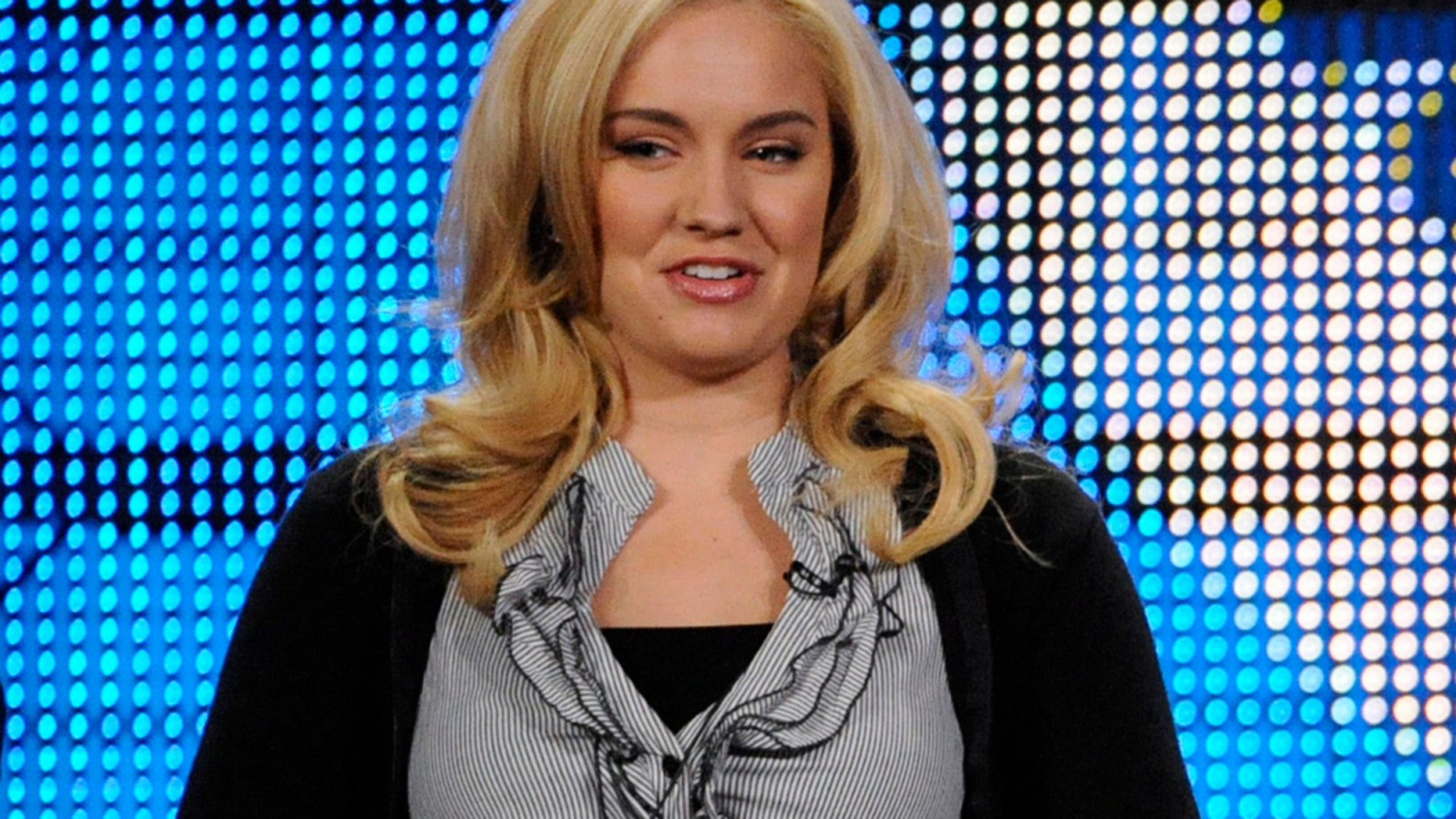 """Tiffany Thornton answers questions during the panel for the Disney Channel Series """"Sonny With a Chance"""" at the Television Critics Association winter press tour in Los Angeles January 16, 2009."""