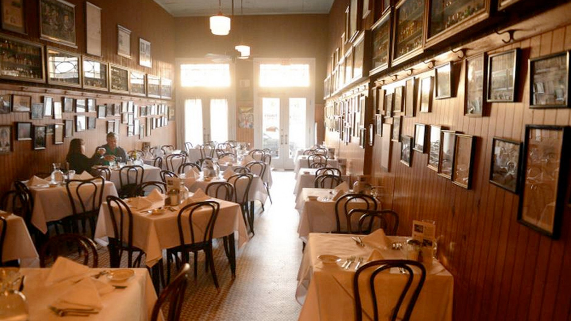 Diners at Tujague's, a culinary landmark in New Orleans' French Quarter, say they were visited by Julian Eltinge, a cross-dressing ghost.
