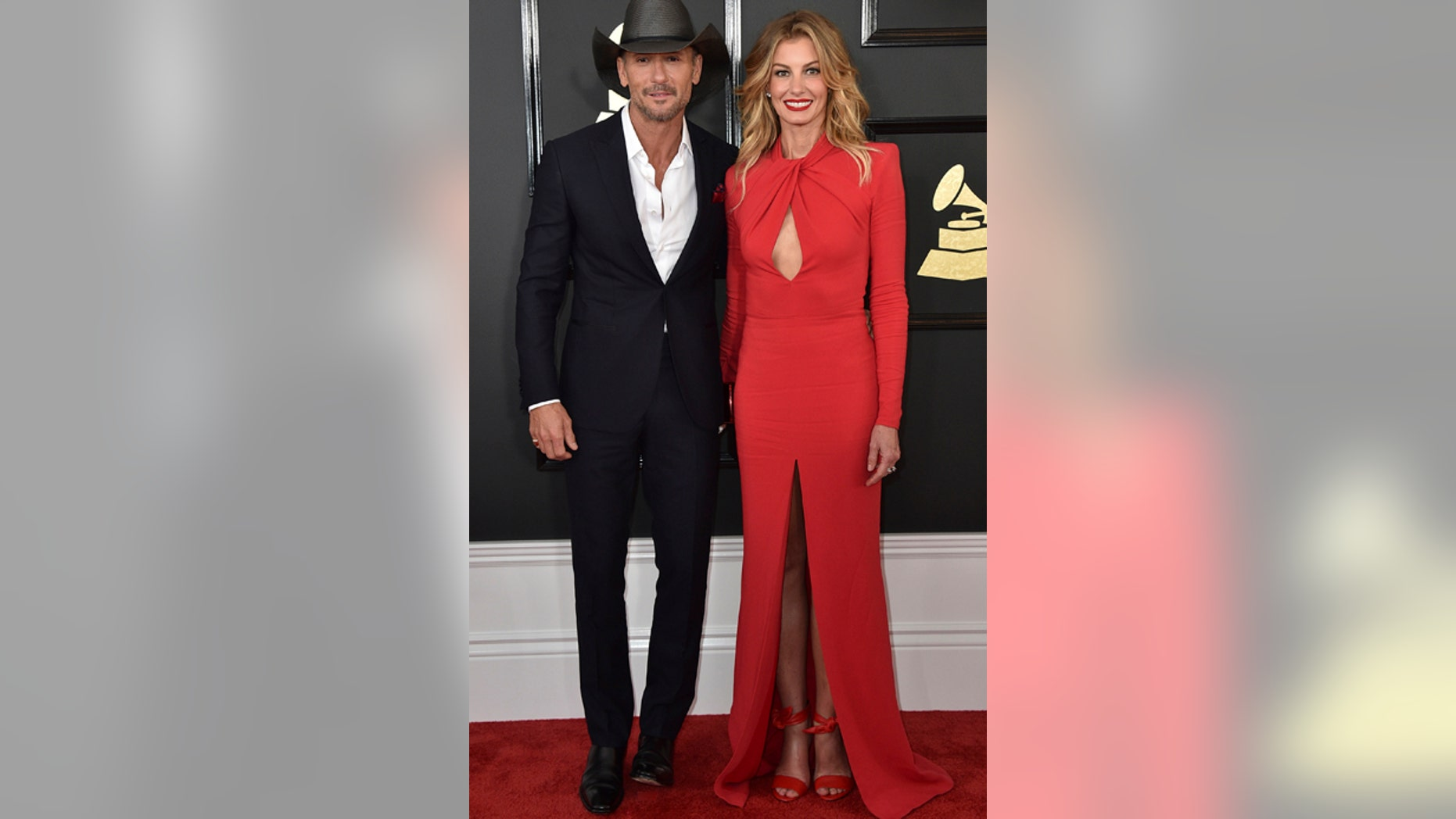 """Tim McGraw and Faith Hill are facing a copyright lawsuit for their new single """"The Rest of Our Life."""" Here, the couple attend the 59th annual Grammy Awards in Los Angeles on Feb. 12, 2017."""