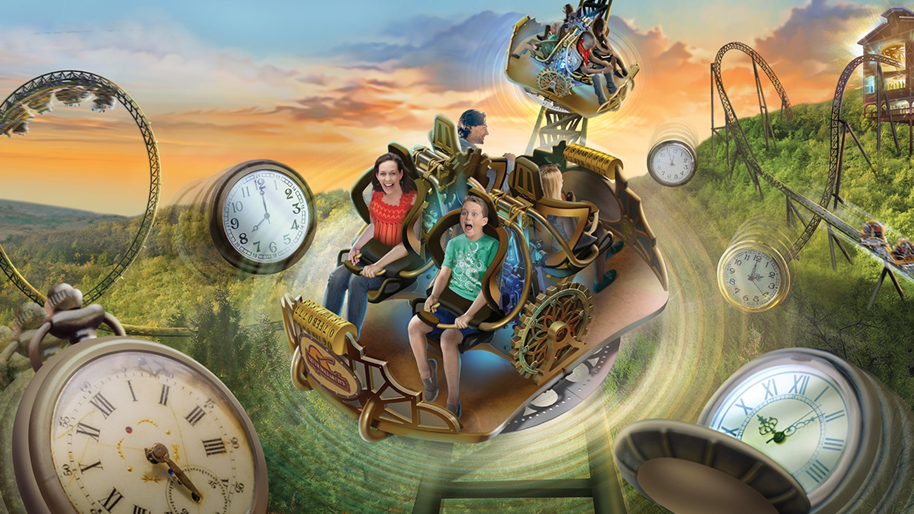 Missouri's new Time Traveler is set to be the world's steepest, fastest and tallest spinning coaster in the world.