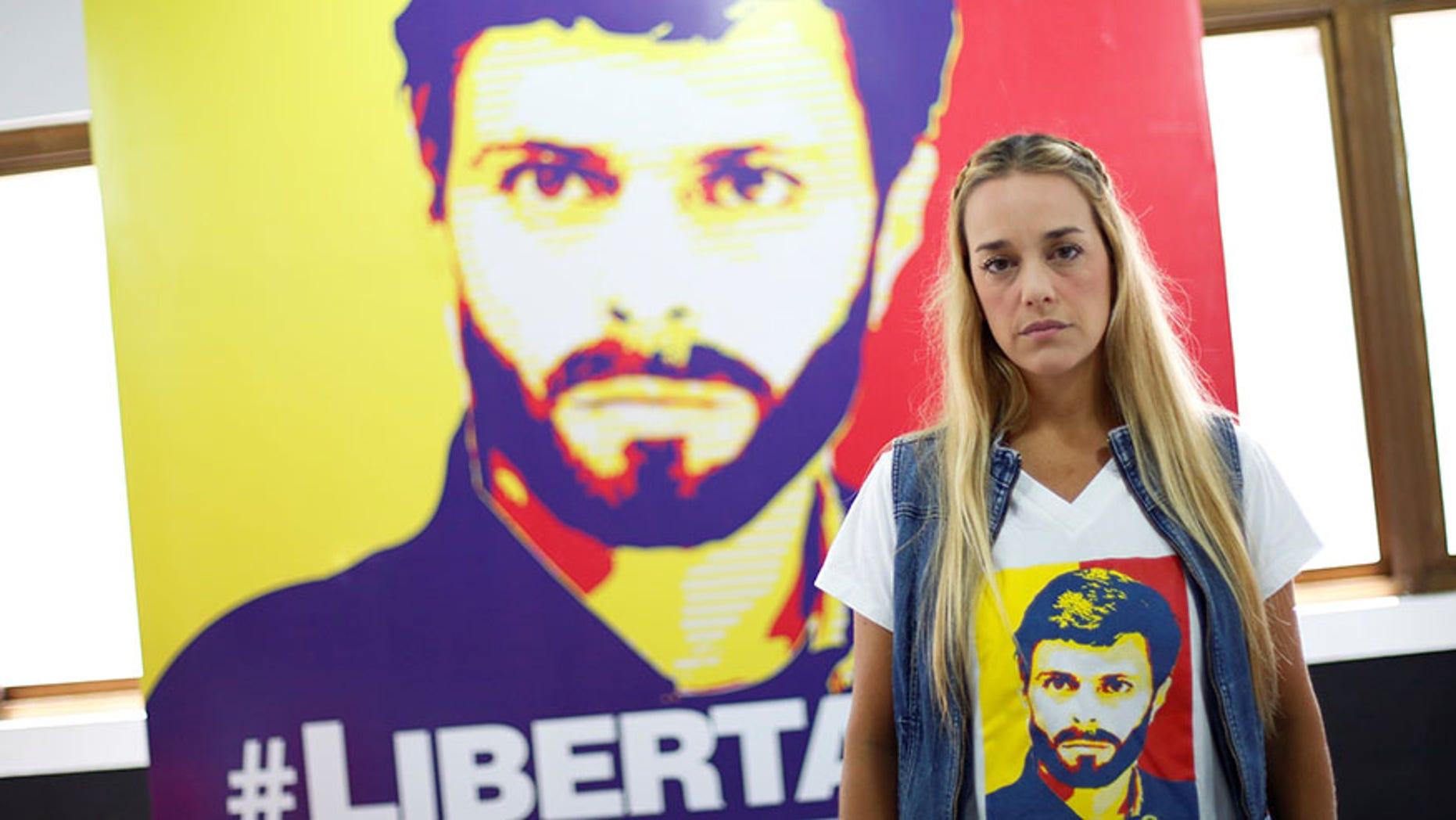 Lilian Tintori, wife of jailed Venezuelan opposition leader Leopoldo Lopez, on Jan. 18, 2017.